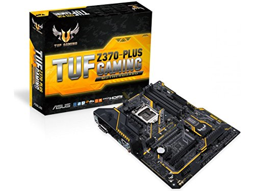 ASUS TUF Z370-PLUS Gaming - Placa Base para Gaming (6 x PCIe 3.0, 6 x SATA III, 6 x USB 3.1, HDMI, LGA1151, Intel HD Graphics, DDR4 4000 MHz)