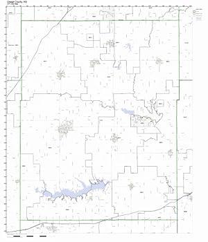 Osage County Kansas KS ZIP Code Map Not Laminated