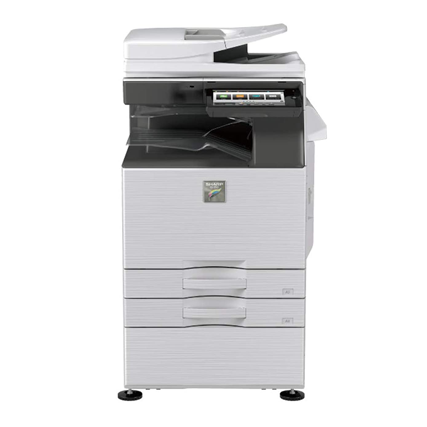 Sharp MX-4050N Tabloid/Ledger-Size Color Laser Multi Function Copier - 40ppm, Copy, Print, Scan, Auto Duplexing, Network Print & Scan, 600 x 600 DPI, 2x500 Sheets Trays, Stand