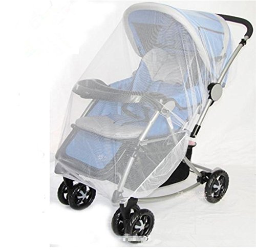 SZHOWORLD Universal Multi-Function 150x110cm Baby Cart Full Cover Mosquito Net Travel System Insect Netting Mosquito Insect Bee Bug Net Fits Most Strollers Bassinets, Cradles and Car Seats White