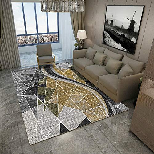 HXJHWB modern trendy design inspiratie multi - geometrisch patroon salontafel woonkamer sofa eenvoudige antislip tapijt voor de woonkamer wasbaar