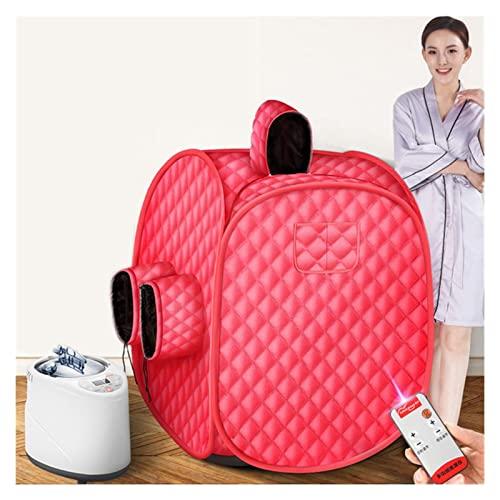 AWSAD Sala de SPA Sauna Portátil Beneficioso Adelgazamiento Cuerpo Completo Terapia Desintoxicación Plegable Casera Bañera de Cabina Sauna Humeante, Varios Estilos (Color : Red, Size : Full)