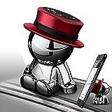 aokway 車載スマホホルダーダッシュボードクリップ携帯ホルダーiphone スタンド可愛360度回転|創意プレゼント父の日ギフト(レッド)