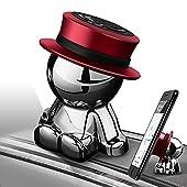 aokway 車載スマホホルダーダッシュボードクリップ携帯ホルダーiphone スタンド可愛360度回転創意プレゼント(レッド)