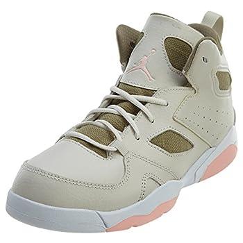 Nike Little Kids Jordan Flight Club  91 Sneaker  PS   2 Little Kid Light Orewood Brown/Bleached Coral