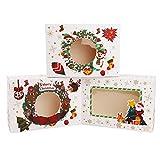 paquet de 12 boîtes de bonbons de noël, boîtes à biscuits boîtes à cupcakes avec fenêtre boîtes de