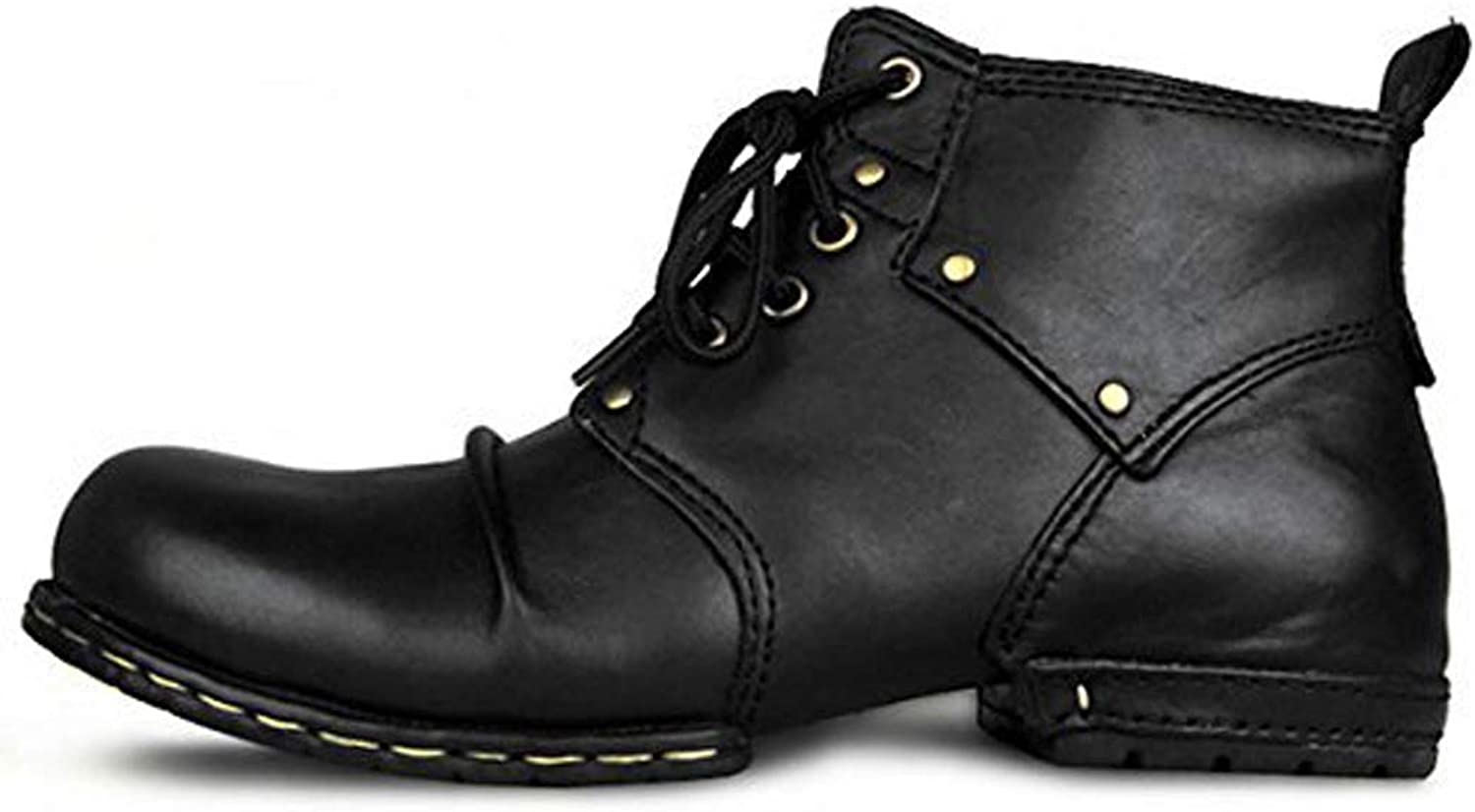 Retro Martin Men's Boots, Men's Leather Tooling Boots Men's Booties Large Size Retro Trend high Help Tooling Boots