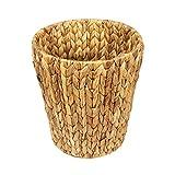 woodluv natürlicher Wasserhyazinthe Papierkorb Korb