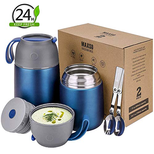 Boîtes Porte Alimentaires Isotherme Set – 500ml...