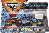 Monster Jam Camiones Monstruos fundidos a presión con Cambio de Color Oficial Radical Rescue vs. Blue Thunder