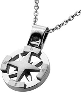 Best stainless steel compass necklace Reviews