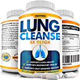 Lung Cleanse and Detox - Helps Quit Smoking - Supports Respiratory Health - Potent Lung Support Supplement - Pollution, Allergy, Stress Relief - Clear Lungs Extra Strength - 90 Vegan Capsules