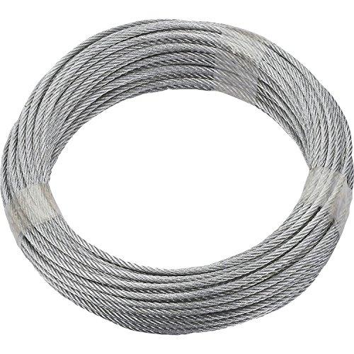 De Ruck Zuck Cable de acero galvanizado, diámetro 4mm, longitud 20m, 6x 7ventilación, 190382