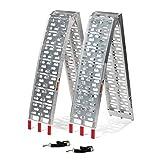 Titan 7.5 FT Aluminum Plate Top Ramp 2PK 1,500 LB Capacity Lawn Mower...