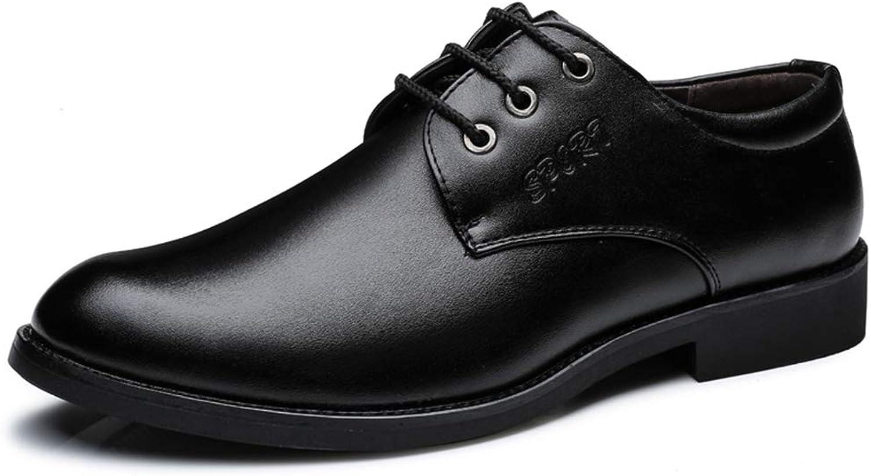 IWGR Herren Business Oxford Lässig Komfortable Einfache Reine Farbe Britischen Stil Formale Schuhe Abendschuhe  | Mangelware