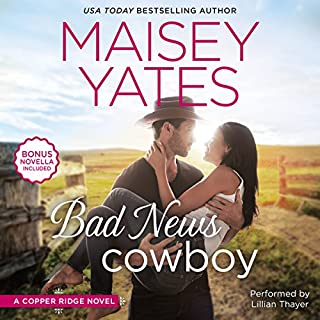 Bad News Cowboy     Shoulda Been a Cowboy              Written by:                                                                                                                                 Maisey Yates                               Narrated by:                                                                                                                                 Lillian Thayer                      Length: 12 hrs and 51 mins     1 rating     Overall 5.0