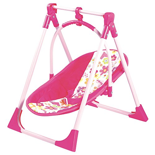 Adora 4-in-1 Playset Baby Carrier Seat, Swing & Doll High Chair for Dolls up to 20 inches (fits American Girl Dolls)