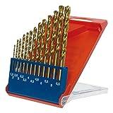 kwb HSS-TIN Titan Metallbohrer-Satz – Bohrer-Set, 13-teilig, Ø 1,5 bis 6,5 mm (Steigung 0,5 mm) sowie 3,3 und 4,2 mm
