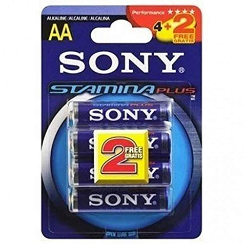 Sony – AM4 Pack 4 + 2 piles alcalines stamina plus AAA LR3