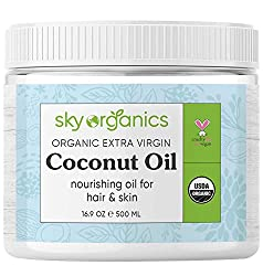 Buy Organic Extra Virgin Coconut Oil by Sky Organics 16.9 oz- USDA Organic Coconut Oil via Amazon