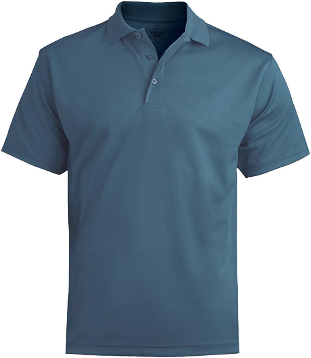 Ed Garments Men's Dry-Mesh Polo Shirt, SLATE BLUE, 5X-Large Tall