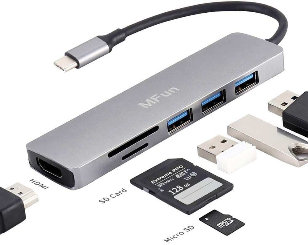 USB C Hub MFun 6 in 1 Finally popular brand HDMI 3.0 Adapter Port Max 40% OFF with SD to