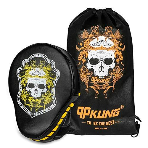 qpKUNG Gebogene Boxhandschuhe für Karate, Muay Thai, Kickboxen, MMA Boxen, 1 Pack
