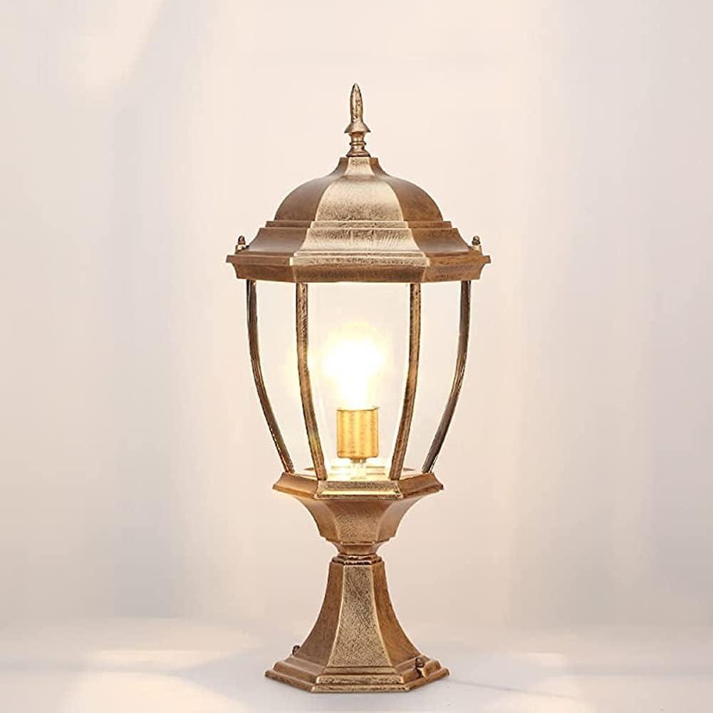 Outdoor Jacksonville Mall New sales Post Light Fixture Bronze Lantern Retro Pole Exterior fo