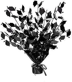 Graduation Cap Gleam 'N Burst Centerpiece 15in.,black & white, Pkg/6