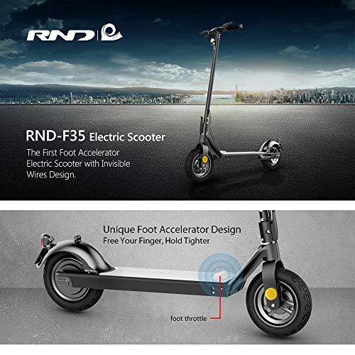 RND-35 Patinete eléctrico con pantalla integrada, batería de 7,5 Ah, velocidad de hasta 20 km/h, motor de 350 W, Scooter eléctrico plegable, unisex, adulto y niño