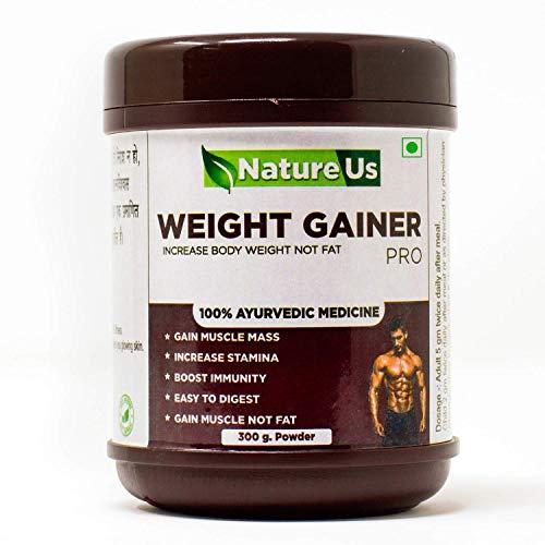 Natureus Ayurvedic Medicine Weight Gainer Increase Muscles Powder Health Care Supplement - 300 Gram