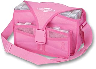 Flambeau Tackle Kwikdraw Pink Soft Side Case Tackle Bag with Shoulder Strap