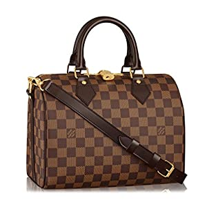 Fashion Shopping Louis Vuitton Damier Ebene Canvas Speedy Bandoulière 25 Article: N41368 Made in France