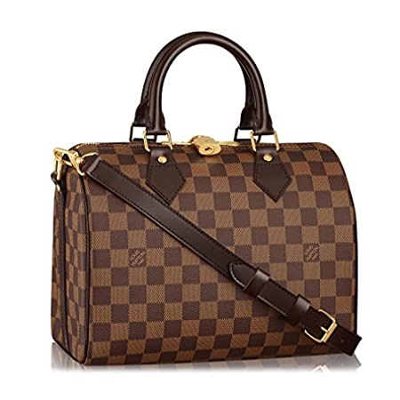 Fashion Shopping Louis Vuitton Damier Ebene Canvas Speedy Bandoulière 25 Article: N41368 Made in
