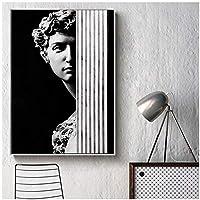 有名な芸術的な石膏像デビッドキャンバス絵画リビングルームの通路のファッションHDクリエイティブな家の装飾のための抽象的なポスタープリント50x70cm(20x28in)