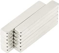 BIGTEDDY - 12x Powerful Neodymium Thin Bar Magnets, Rare-Earth Metal Neodymium Magnet, N45, Incredibly Strong 33+ LB Strength - 60 x 10 x 4 mm