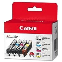 インクカートリッジ、4パック、カラー、1パッケージで販売 - キャノンインクカートリッジ、4パック、カラー。
