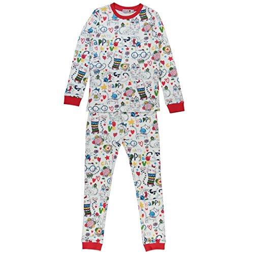 Boboli Mädchen Interlock Pyjamas for Girl Zweiteiliger Schlafanzug, Mehrfarbig (Print 9562), 116