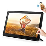 Smart Digital Photo Frame with 1920x1080 IPS Screen Digital Picture Frame Support Adjustable Brightness Photo Frames 1080P Video Music Remote 16:9 Widescreen (8 inch WiFi, Black)