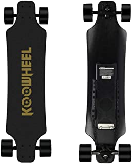 Koowheel Electric Skateboard, D3M 2nd Generation Electric Longboard with Remote - Dual Motor 2x350W 36 Inch Electric Skateboard Kooboard - 24.8 mph Speed, 286 lbs Max Load