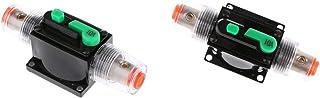 figatia 2xCar Stereo Audio 10A 12-32V Disjuntor Automático Fusível Encaixe em Linha