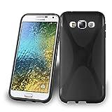 Cadorabo Hülle für Samsung Galaxy E5 in Oxid SCHWARZ – Handyhülle aus flexiblem TPU Silikon – Silikonhülle Schutzhülle Ultra Slim Soft Back Cover Hülle Bumper
