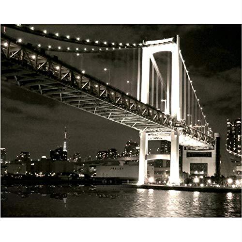 Eigene Tapete Wohnzimmer Schlafzimmer Fototapete Us Golden Gate Bridge Schwarz Und Weiß 3D Hintergrund Fototapete 3D Wallpaper-400X280CM