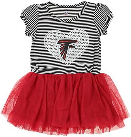 OuterStuff NFL Girl s Infant and Toddlers Celebration Sequin Tutu Atlanta Falcons Medium 5 6 product image