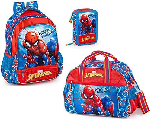 51y1Je6m2fL - Marvel Spiderman - Mochila de deporte y estuche para lápices para niños
