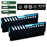 DS Universal RGB Always on RAM Shell Memory Glowing Heatsink for Computer, LED Cooling Vest Fin Heat Sink for DDR3 DDR4 (M Series)