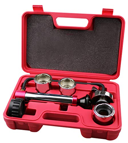 Kauplus Radiator and Cap Test Kit Cooling System Pressure Test Kit Radiator and Pressure Cap Test...