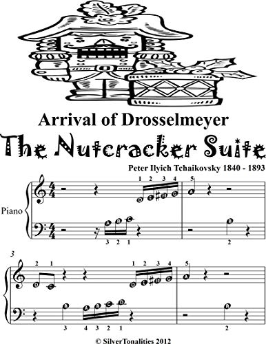 Arrival of Drosselmeyer the Nutcracker Suite Beginner Piano Sheet Music Tadpole Edition (English Edition)