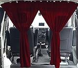 VW T5 T6 Multivan Transporter Caravelle medida cortinas cabina del conductor división color: rojo vino