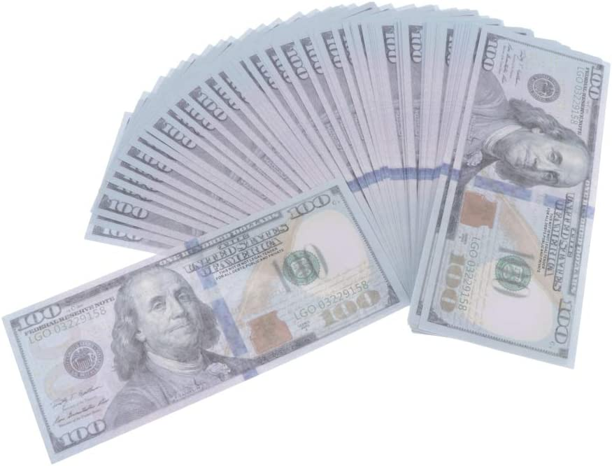 dailymall 100pcs Fake Money Fausse Dollar Accessoire de Theatre Tours de Magie B